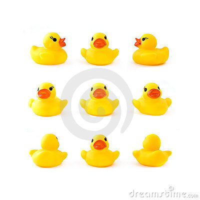 Free Rubber Yellow Ducks Royalty Free Stock Photo - 7912565
