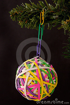 Rubberband Ball And Paperclip Ornament