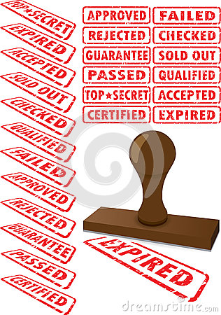 Free Rubberstamp Collection Stock Photo - 31587740