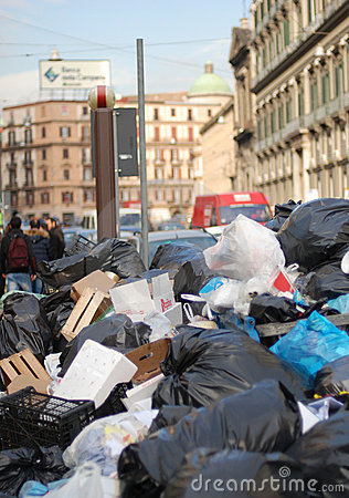Rubbish crisis in Naples Editorial Stock Photo