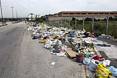 The rubbish crisis in Naples Editorial Image