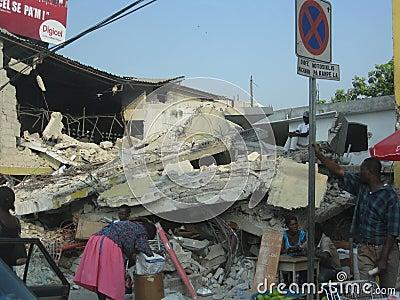 In the rubble of haiti Editorial Photo