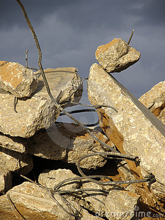 Rubble and rebar