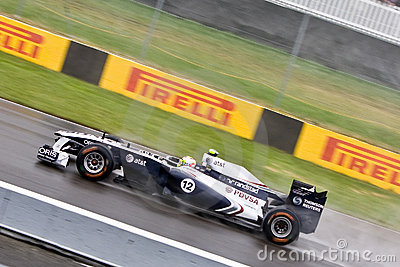 Rubens Barrichello racing at Montreal Grand prix Editorial Photography