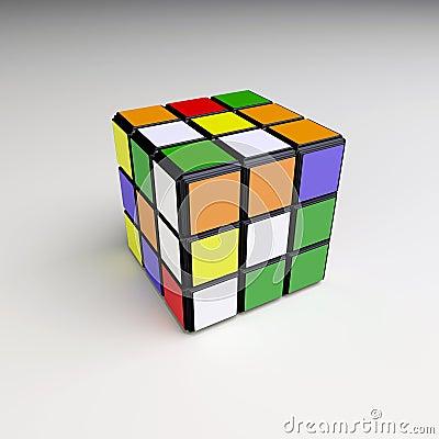 Rubik cube Editorial Stock Photo