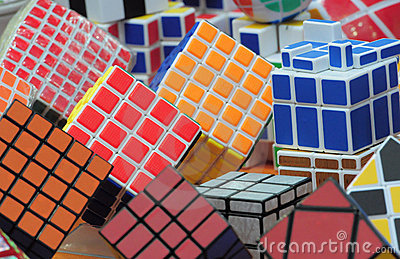 Rubik s cube background Editorial Photo