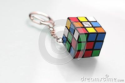 Rubik s cube key chain Editorial Photo