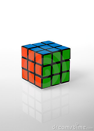Free Rubik S Cube Whit Rgb Colors Stock Photos - 17345193