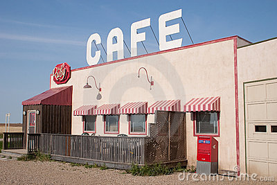 The Ruby Cafe from Corner Gas Editorial Stock Photo