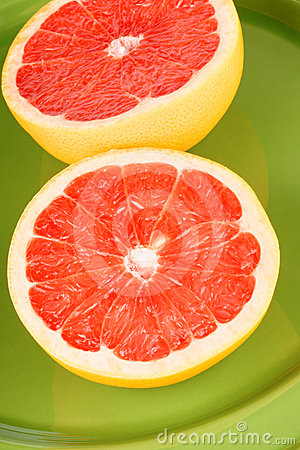 Ruby grapefruit close-up