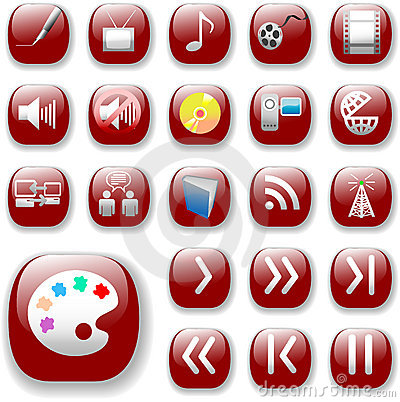 Free Ruby Red Icons, Digital Media Stock Photos - 2802113