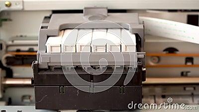 Ruch głowicy drukującej drukarki atramentowej zdjęcie wideo
