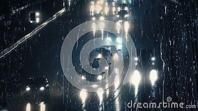 Ruchliwie droga Przez okno W Heavy Rain zbiory
