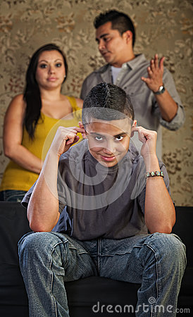 Rude Teenager Plugs Ears