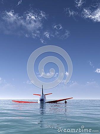 Ruído elétrico plano no mar