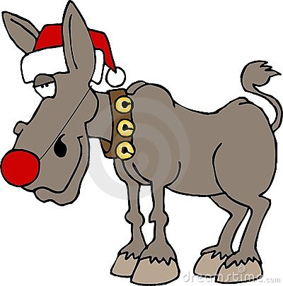 Rudolf the red nosed donkey