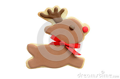 Rudolf reindeer cookie