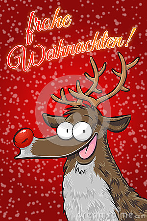 rudolph frohe weihnachten german stock images image. Black Bedroom Furniture Sets. Home Design Ideas