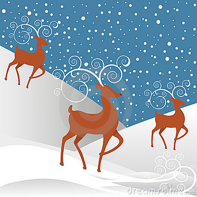 Rudolph Reindeer Christmas Background