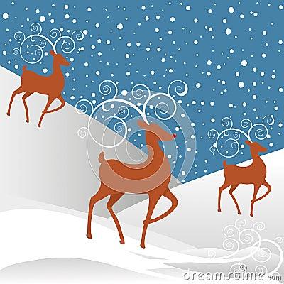 Rudolph Reindeer Christmas Background