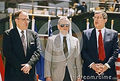 Rudy Giuliani, Tony Randall, and Marvin Hamlisch Editorial Photography