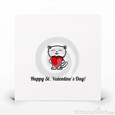 Rue Carte de jour de Valentines