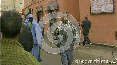Rue colorée de Marrakech morocco clips vidéos
