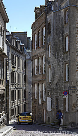 Rue de la Fosse in Saint Malo Editorial Photo