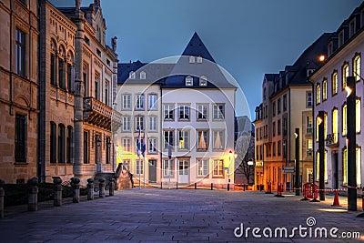 Rue du Marche-aux-Herbes, de stad van Luxemburg