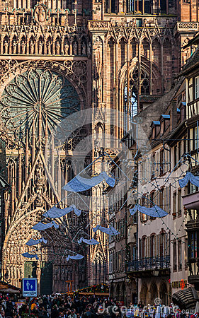 Rue Merciere in Strasbourg Editorial Stock Photo