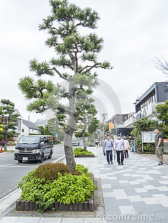 Rue principale de Kamakura Image éditorial