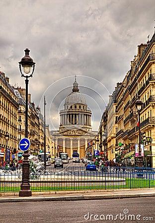 Rue Sufflot in Paris Editorial Photo