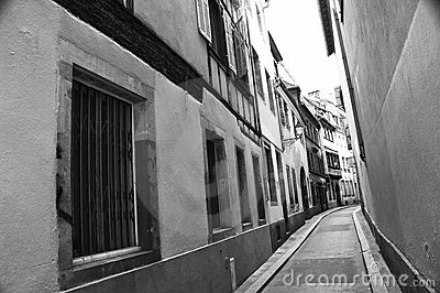 Rue étroite de Strasbourg