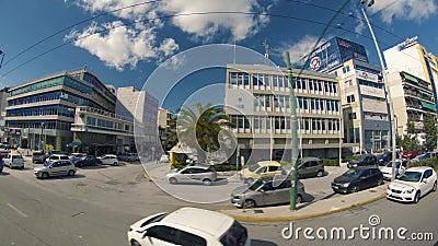 Rues passantes de la Grèce banque de vidéos