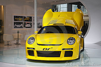 Ruf CTR-3 racer premiere in Guangzhou Auto Show Editorial Photography