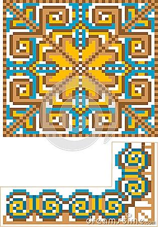 Rug pattern detail.