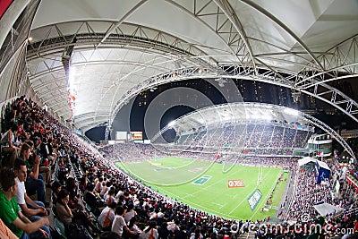 Rugbi Sevens 2012 de Hong-Kong Imagen de archivo editorial