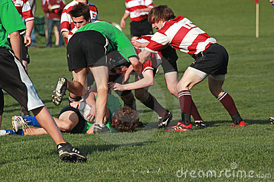 Rugby In Action Editorial Stock Image