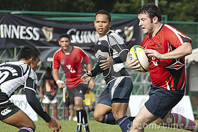 Rugby Action Editorial Stock Image