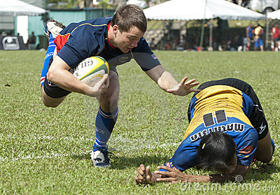 Rugby Action Editorial Stock Photo