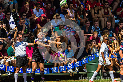 Player Ball Throw-In Rugby Outeniqua Editorial Stock Image