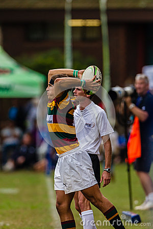 Forward Throw-In Ball Rugby Paarl Gymn Editorial Image