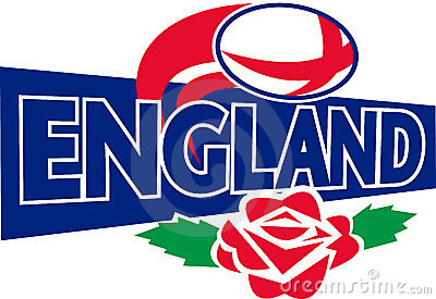 Rugby ball england rose english