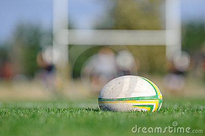 Rugby Ball and Goal
