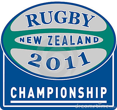 Rugby ball new zealand 2011 Editorial Stock Image