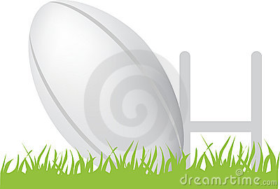 Rugby ball and posts