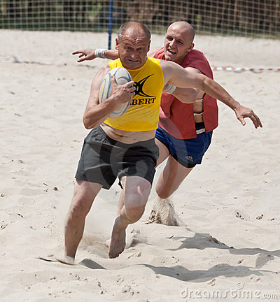 Rugby Beach Tournamet Royalty Free Stock Photos - Image: 20537438