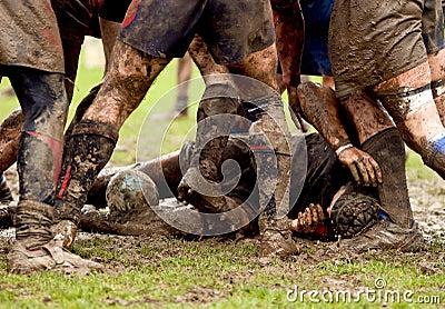 Rugby scrum sport