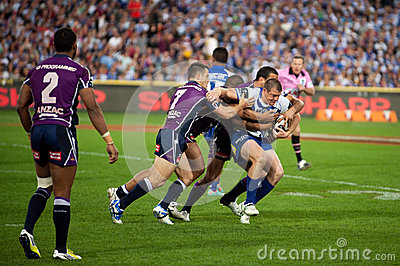 Rugby defence Editorial Image