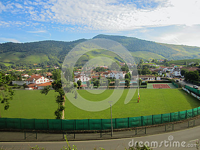 Rugby field in saint jean pied de port city france - Places to stay in st jean pied de port ...